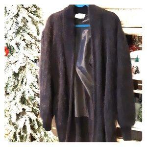 Angora Sweater Coat Oversized